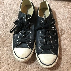 Converse Shoes - Black spiked converse